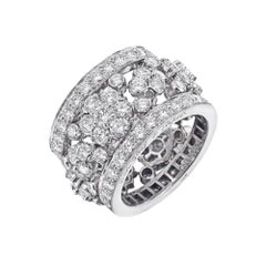 Van Cleef & Arpels Diamond Snowflake Band Ring