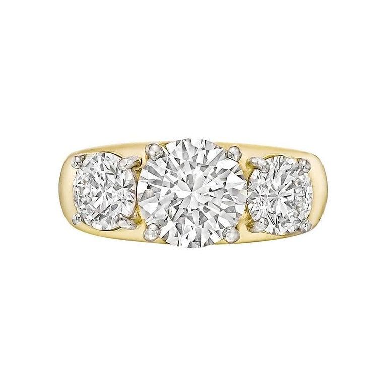 Round Brilliant Diamond Three-Stone Ring