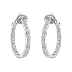 Van Cleef & Arpels Large Diamond Oval Hoop Earrings