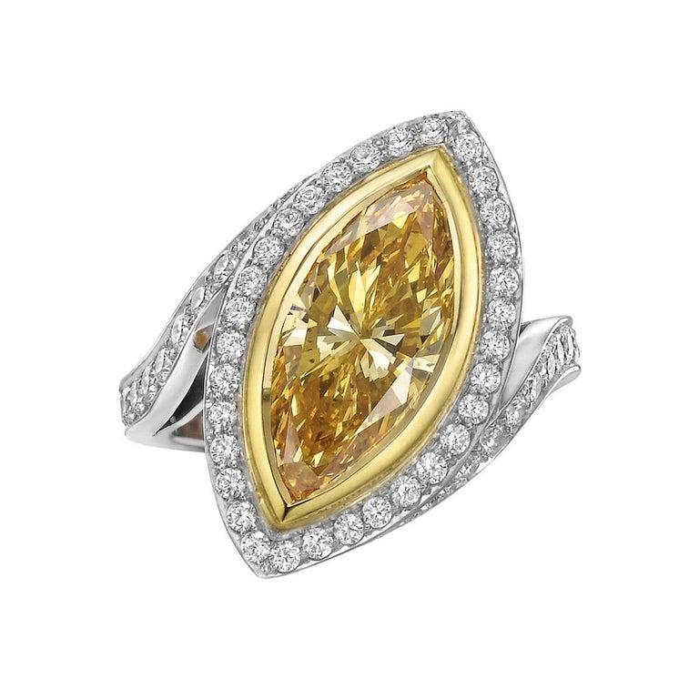 Betteridge 3.39 Carat Fancy Intense Orange-Yellow Diamond Ring
