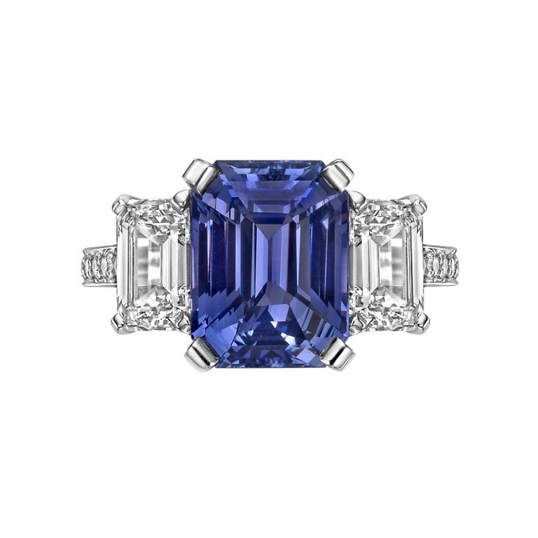 Betteridge 5.02 Carat Violet Sapphire and Diamond Ring