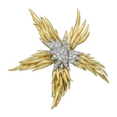 Tiffany Schlumberger Paris Flame Brooch