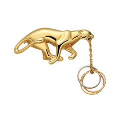 Cartier Gold Panthère Brooch with Trinity Rings