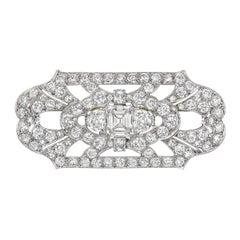 Diamond Panel Brooch