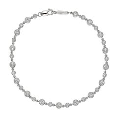 Tiffany & Co. Bezel-Set Round Diamond Chain Bracelet