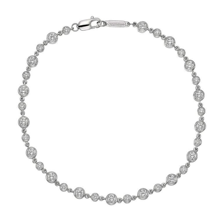 Tiffany & Co. Bezel-Set Round Diamond Chain Bracelet