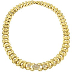 Marina B Yellow Gold Diamond Collar Necklace
