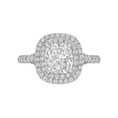 "Tiffany & Co. Cushion Diamond ""Soleste"" Ring"