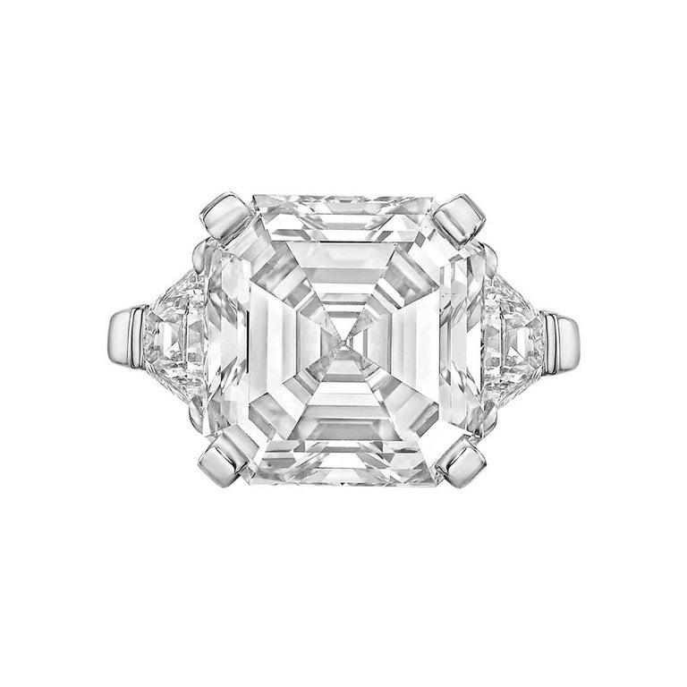Betteridge 8.03 Carat Asscher-Cut Diamond Ring