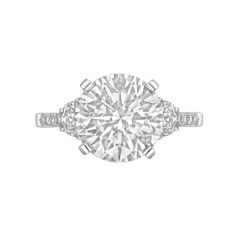 4.03 Carat Round Brilliant Diamond Ring