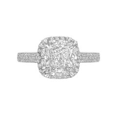 Betteridge 3.11 Carat Cushion-Cut Diamond Ring