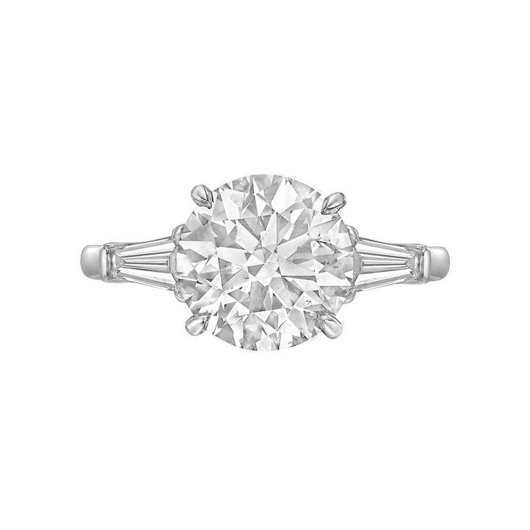 3.01 Carat Round Brilliant Diamond Ring