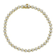 Round Brilliant-Cut Diamond Line Bracelet '5.80 Carat'