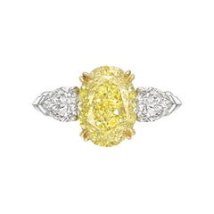 Betteridge 3.26 Carat Fancy Yellow Diamond Ring