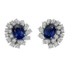 Giovane Sapphire Diamond Cluster Earrings