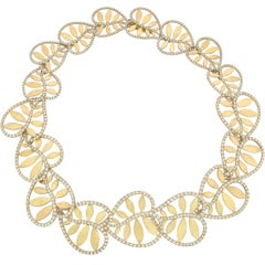 "Paloma Picasso Tiffany & Co. Yellow Gold Diamond ""Villa Paloma"" Necklace"