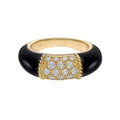 "Van Cleef & Arpels Black Onyx Diamond ""Philippine"" Ring"