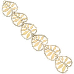 "Paloma Picasso Tiffany & Co. Yellow Gold and Diamond ""Villa Paloma"" Bracelet"