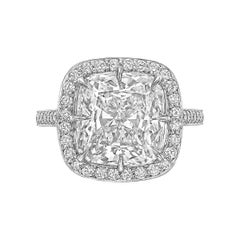 Betteridge 5.07 Carat Cushion-Cut Diamond Engagement Ring