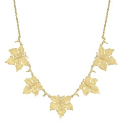 Buccellati Yellow Gold Five-Leaf Collar Necklace