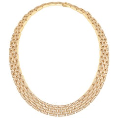 "Cartier Gold Diamond ""Maillon Panthère"" Link Necklace"