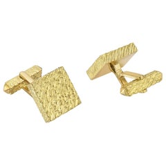 Tiffany & Co. Yellow Gold Square Cufflinks