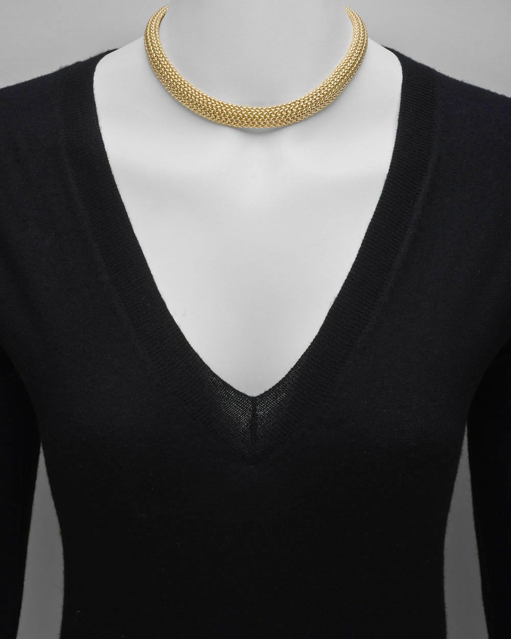 Tiffany & Co. ​Gold Mesh Collar Necklace 2