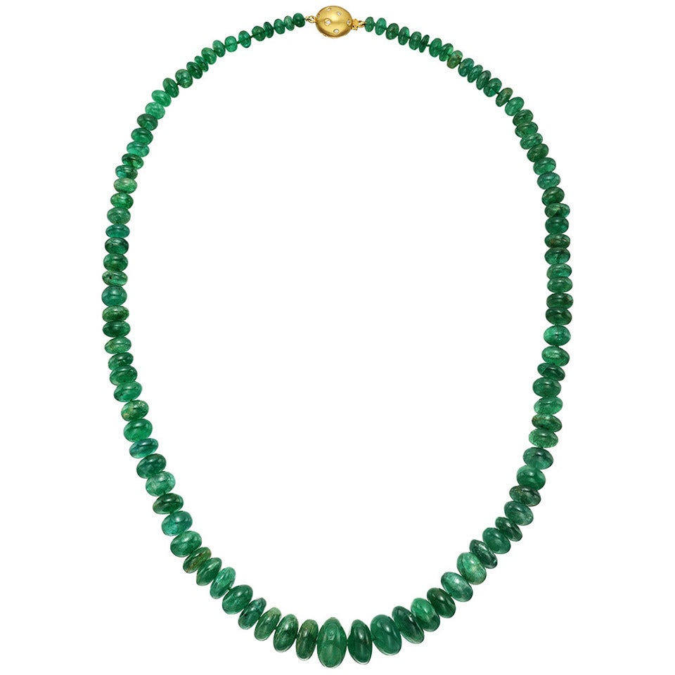 graduated emerald bead necklace at 1stdibs