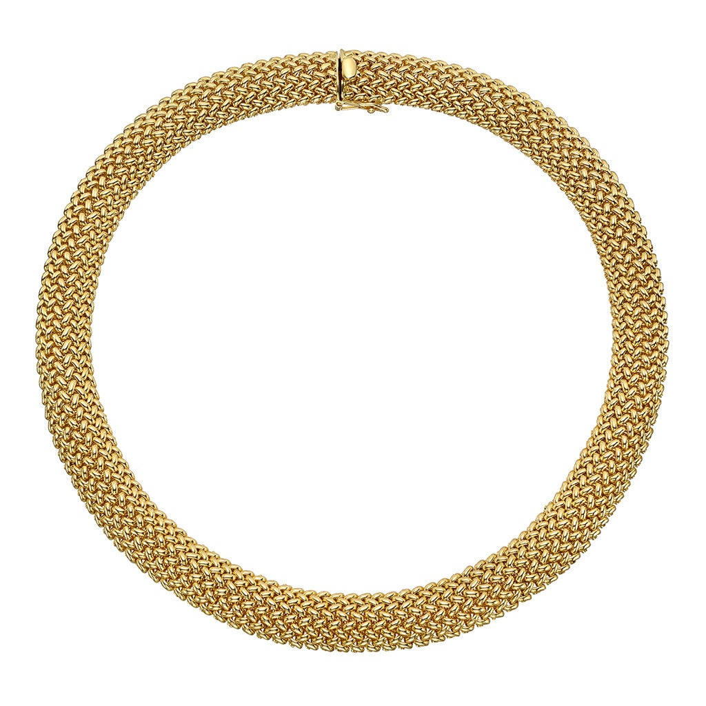 Tiffany & Co. ​Gold Mesh Collar Necklace 1