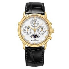 Blancpain Yellow Gold Perpetual Calendar Split-Second Chronograph Wristwatch