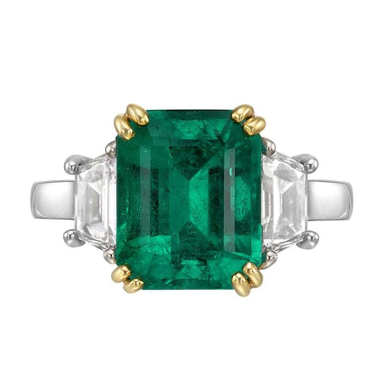 3 49 carat emerald ring