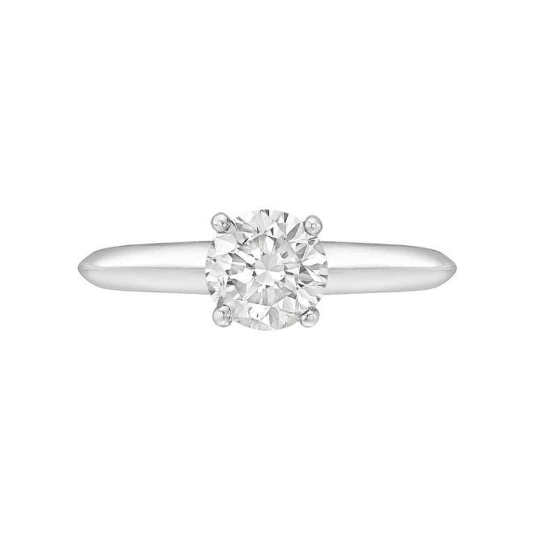 Tiffany And Co 1 12 Carat Round Brilliant Diamond Ring At