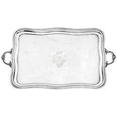 Antique Russian Silver Serving Tray