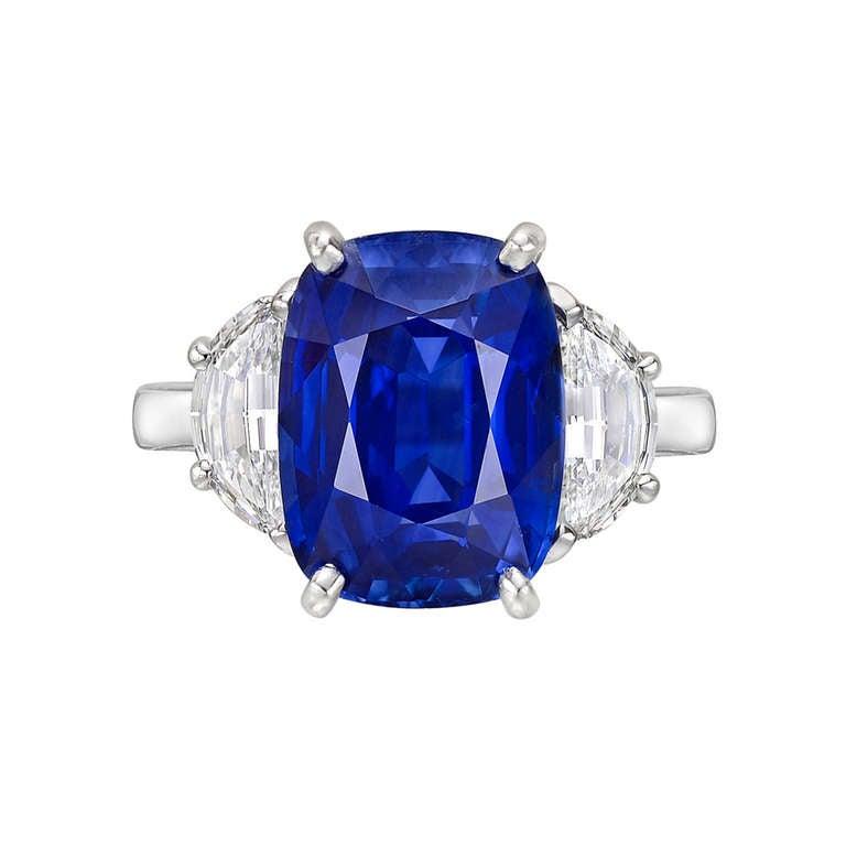 Harry Winston 6 49 Carat Sapphire and Diamond Ring at 1stdibs