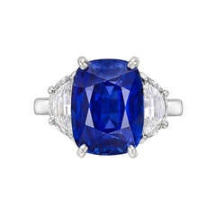 Harry Winston 6.49 Carat Sapphire & Diamond Ring