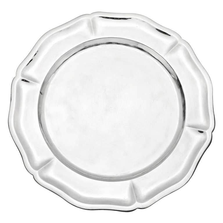 Set of 11 Sterling Silver Charger Plates For Sale  sc 1 st  1stDibs & Set of 11 Sterling Silver Charger Plates at 1stdibs