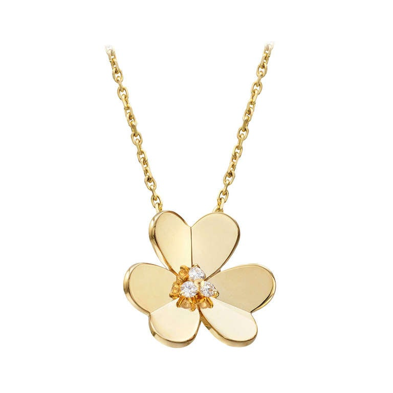 Van Cleef And Arpels Diamond And Gold Quot Frivole Quot Pendant At