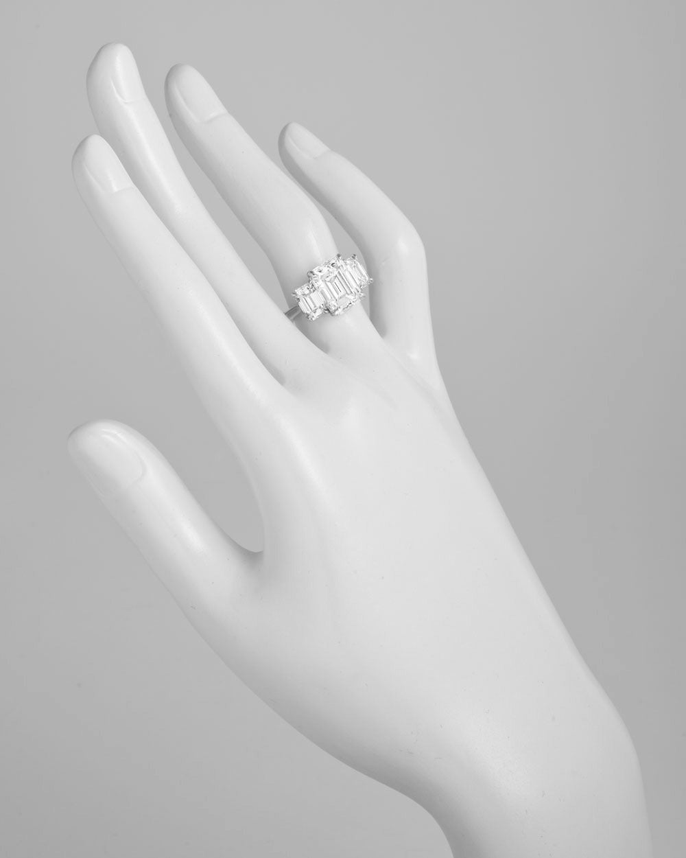 Tiffany & Co. 4.00 Carat GIA Cert Emerald-Cut Diamond Platinum Engagement Ring 2