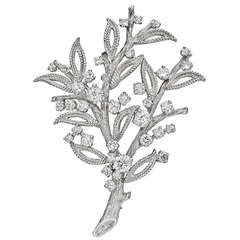 Sterle Diamond Platinum Branch Pin