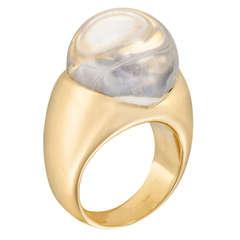 Mauboussin Rock Crystal Diamond Gold Ring