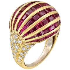 Arfan Ruby Diamond Balloon Ring