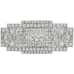 Art Deco Diamond Panel Brooch