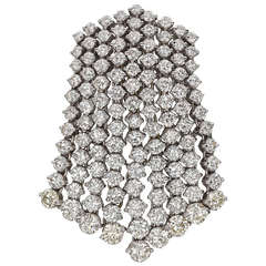 Diamond Waterfall Pendant Brooch