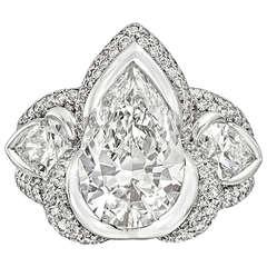Mauboussin 3.05 Carat Pear-Shaped Diamond Ring