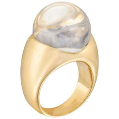 Mauboussin Rock Crystal Diamond Gold Ring