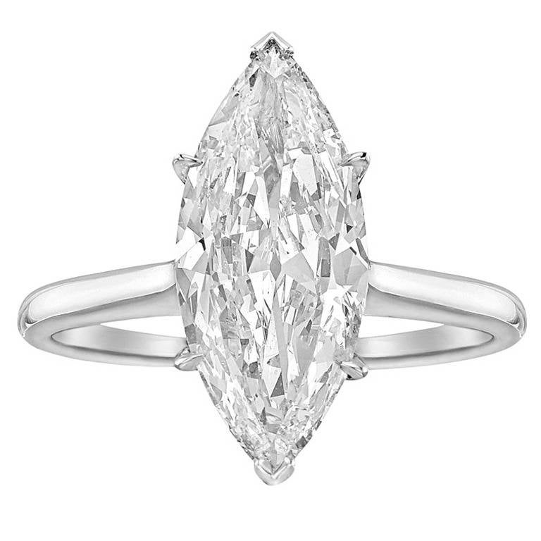 harry winston 2 01 carat marquise cut engagement