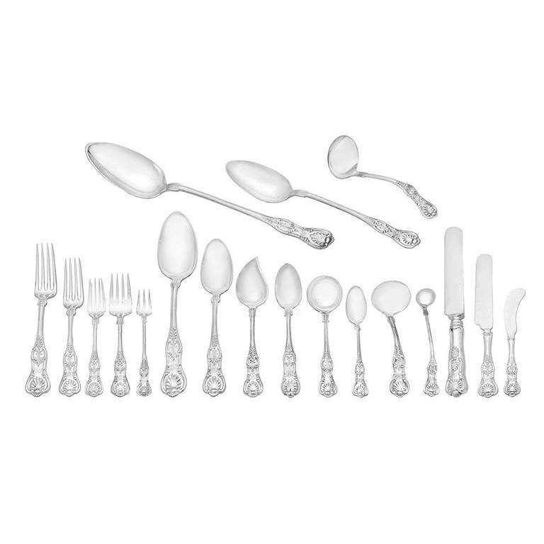J.E. Caldwell Silver English King Flatware Set