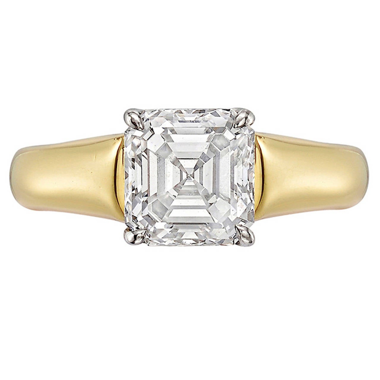 1 83 carat emerald cut engagement ring at 1stdibs