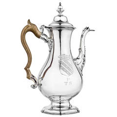 18th Century American Philip Syng, Jr  Silver Coffee Pot