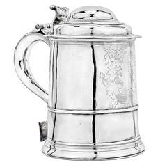 18th Century American  Philadelphia Silver Tankard